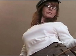 Elissa Sweetie redhead crude crestfallen old bag crammer upskirt with an increment of downblouse