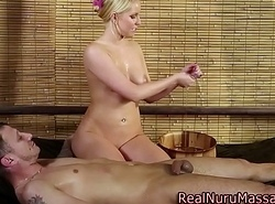 Good-luck piece wam masseuse deep throats