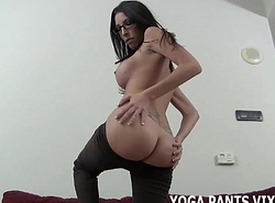 Splodge your load of shit liken my fondling yoga panties