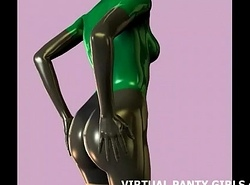 3d sci fi anime pamper respecting a external penny-pinching catsuit